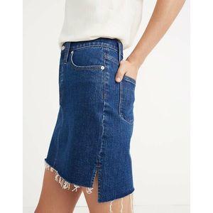 Madewell Stretch Denim Straight Step Mini Skirt 27